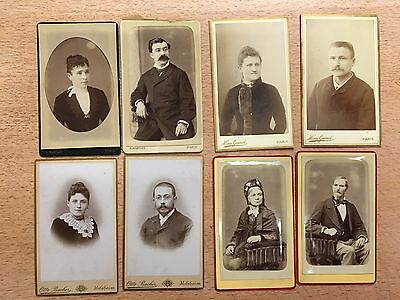 lot de 8 Carte de visite cdv photo ancienne albumine 4 couple à voir !!!!