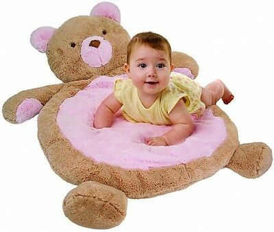 Bestever Pink Bear Baby Mat Kids Play Mat Tummy Time Soft Nursery Cuddle Toy