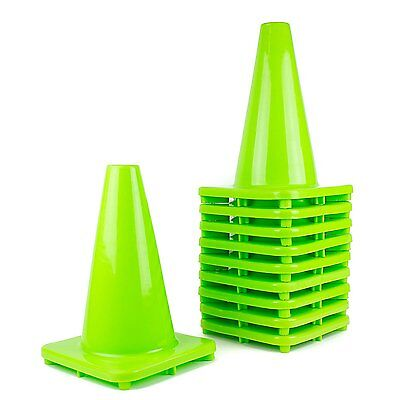 "(Set of 10,20,30) RK PVC Traffic Safety Cone, 12"" Inch Construction Safety Cones"