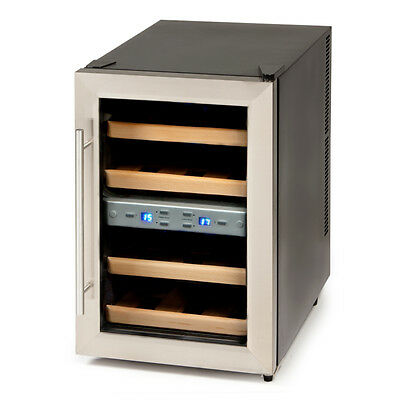 Wine fridge Real wood shelves Wine-Beverage-Cooler Refrigerator 12 Wine bottles