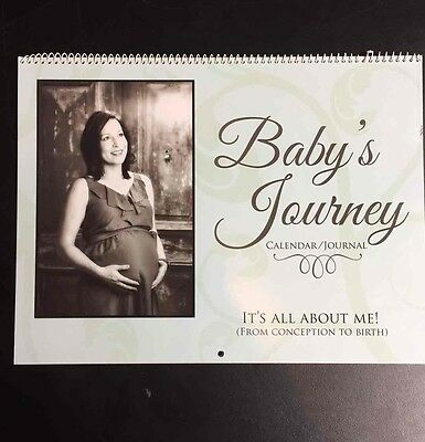 Baby's Journey Calendar Journal Pregnancy Maternity Keepsake Shine In East NEW