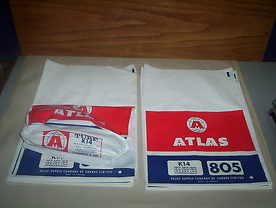 """Lot of 15 Vintage Atlas Supply Company of Canada K14 805 Tire Bags (15"""" x 10"""")"""