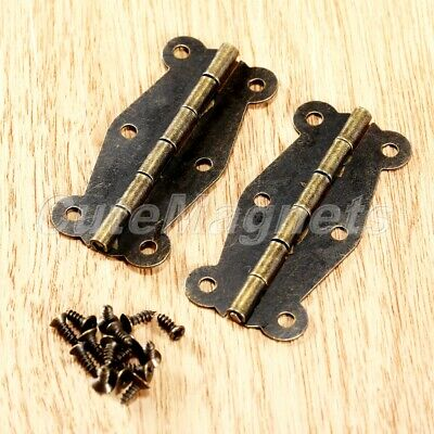 2/10pcs Vintage Mini Butterfly Hinge For Furniture Cabinet Drawer Wood Box Chest