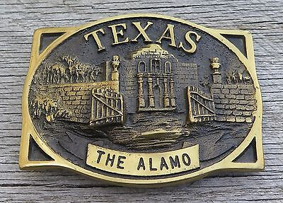 Texas The Alamo Heritage Mint Brass 1980's Vintage Belt Buckle