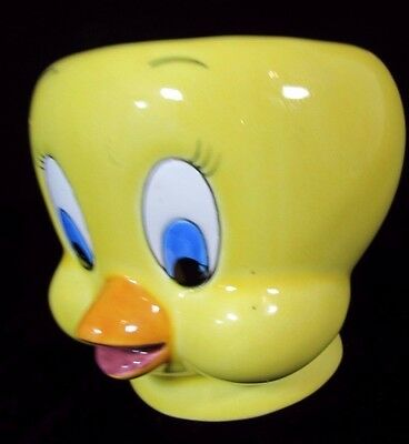 1989 Applause Inc Warner Bros Yellow Tweety Bird 3D Coffee Mug Cup Looney Tunes