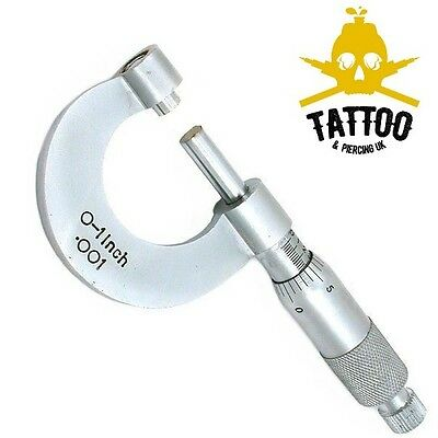 BODY PIERCING Stainless Steel MICROMETER CALIPER Measure Ruler - Autoclavable