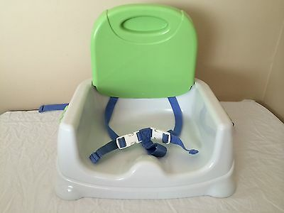 Fisher Price Booster Seat High Chair Baby Feeding Seat Green and Blue Color *O