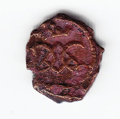 DANISH INDIA - TRANQUEBAR 1 kas ND KM132 Cu Christian VI 1730-1746 VERY RARE !