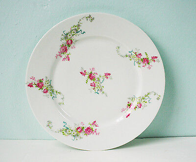 "Limoges  Dinner Plate, 9 3/4"", Wm. Guerin & Co. France."