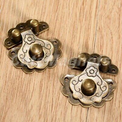 UNIQUE JEWELRY Box Latch Hasp Case Cabinet Lock Clasp Decorative