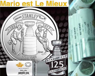 1892-2017 Canada 40 25cent Coins 125th Anniv. Stanley Cup SpecialWrap Roll
