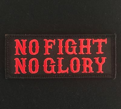 No Fight No Glory Army Tactical Usa Military Morale Black Ops Red Hook Patch