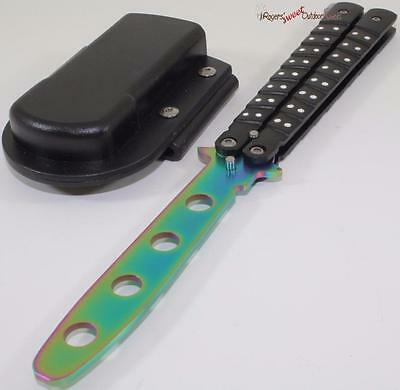 Black Rainbow Balisong Training Practice Butterfly Style Knife