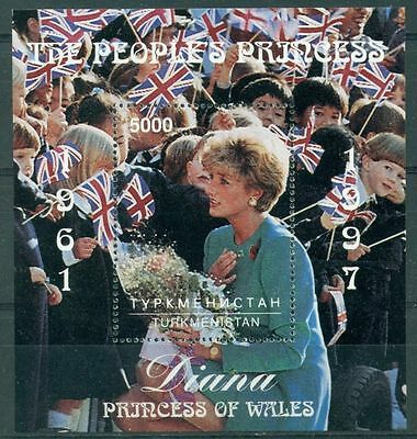 Turkmenistan 1997 mini sheet MNH** Princess Diana