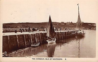 Scotland - ISLE OF WHITHORN, The Harbour - Real Photo, used 1922.