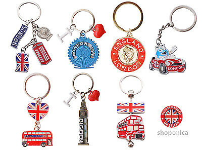 UK Souvenir Famous British London Icons  Mix of 7 Key Rings
