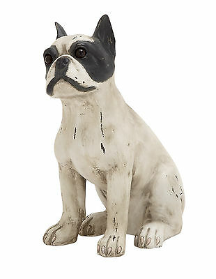 Unique And Contemporary Style Polystone Sitting Dog Home Decor 78845