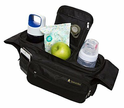 Stroller Organizer by Spark & Bee Parent Console Easy Insulated Beverage Holder