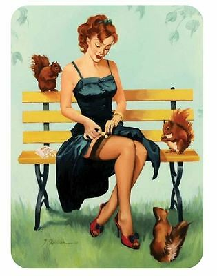 Vintage Style Pin Up Girl Sticker P100 Pinup Girl Sticker