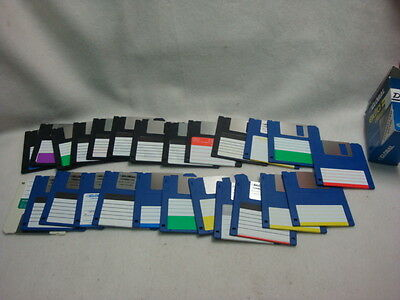 """LOT OF 25 DISKETTES  3.5"""" several brands new and used"""