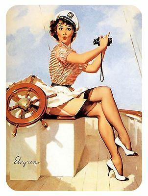 Vintage Style Pin Up Girl Sticker P114 Pinup Girl Sticker