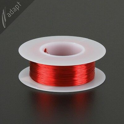 31 AWG Gauge Magnet Wire Red 500' 155C Solderable Enameled Copper Coil Winding S