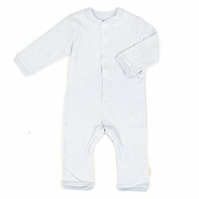 Tadpoles Organic Double Knit Cotton Footless Snap Front Romper, Grey, 3-6 Months