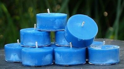 10pk 120hr/pack EUCALYPTUS SPEARMINT Strong Scented ECO SOY TEA LIGHT CANDLES