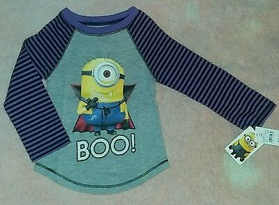 NEW Despicable Me Minion 18 Month Baby/Toddler Long-Sleeve Halloween T-Shirt Top