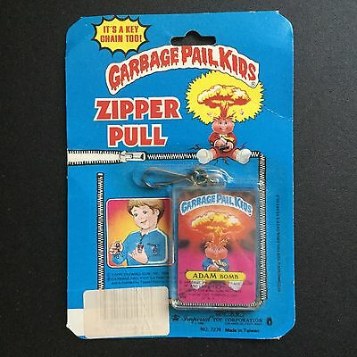 Vintage Garbage Pail Kids Adam Bomb Zipper  Pull Key Chain Imperial New