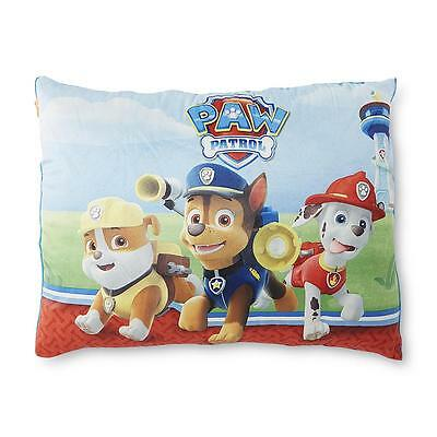 Paw Patrol Micro Fleece Bed Kids Pillow Soft Comfortable Rubble Chase Marshall