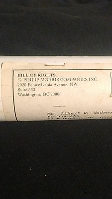 Bill of Rights, Phillip Morris reproduction with mailing tube