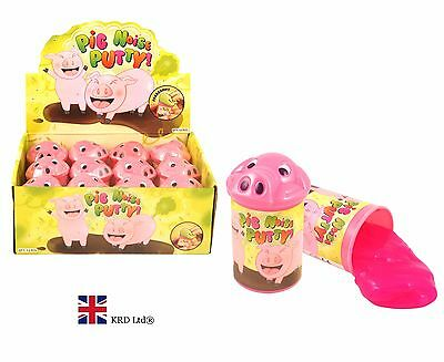 PIG NOISE PUTTY TUB Silly Jokes Toy Fart Noisy Party Bag Filler Toys HBN14016 UK
