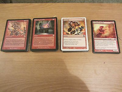 MTG Magic Lot of 81 cards Red Uncommon Spells Sorcery, Instant, Enchantments