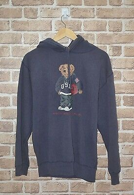 Vintage Polo Bear By Ralph Lauren Pwing Sport Pullover Hoodie