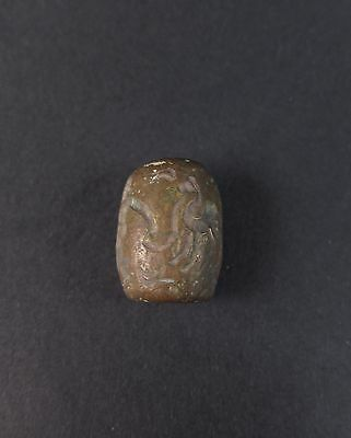 Extremely rare ancient Near Eastern bronze seal with a frieze of animals