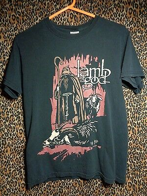 lamb of god tour t shirt 2007 with dates mens small heavy metal rare