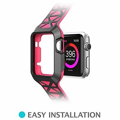 Apple Watch Case iWatch Premium Bracelet Protective Strap Bumper Band 42mm Pink