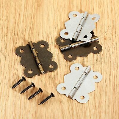 Mini Butterfly Hinges Gift Jewelry Box Cabinet Cupboard Dolls House Decorative
