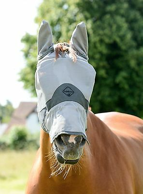 New Lemieux Comfort Fly mask with sheepskin to avoid rubbing Cob size nose ears
