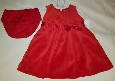 new carters 9 month baby girl red dressy dress pantychristmasvalentines day