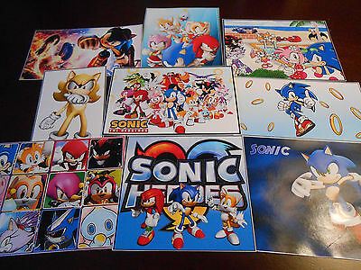 9 Sonic The HedgehoG inspired Stickers, Labels, Party Supplies, Birthday party