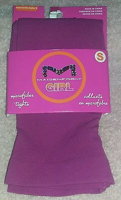 NEW Maidenform Girl Small (38-50 Pounds) Girl's Pink/Purple Microfiber Tights