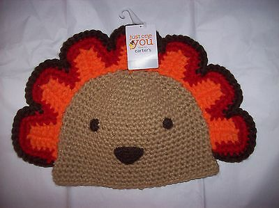 NWT Carter s Thanksgiving Turkey Knit Hat Infant Baby size 0-12 ... 6fea6c59e77