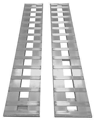"84"" X 14"" Aluminum 6000 LBS Truck Car Auto Trailer Ramps Hook end knife foot. 7'"