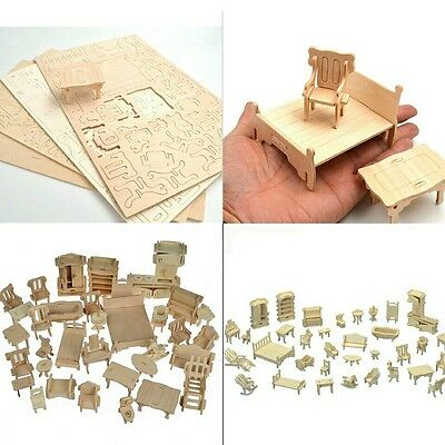 Doll house DIY 34 Piece Furniture set