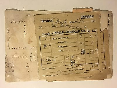 3 Invoices attached to a Statement for Anglo American Oil Co Ltd 1905