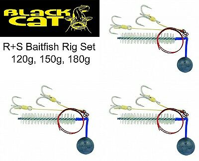 Black Cat Wallermontagen - R+S Baitfish Rig Set 120g, 150g, 180g, Wallerrig