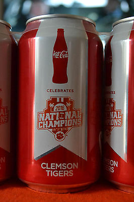 Clemson 2016 National Champ Commemorative Coke Can