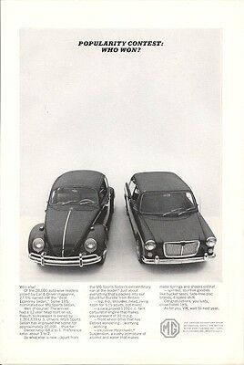 MG Won the Popularity Contest Vintage Ad 1964